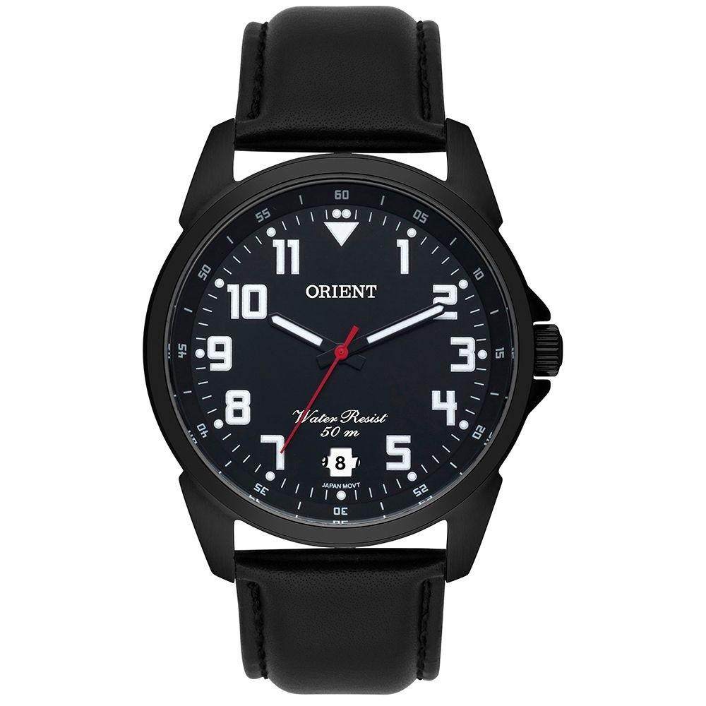 Relógio Masculino Orient mpsc1009 p2px Preto Couro Analógico