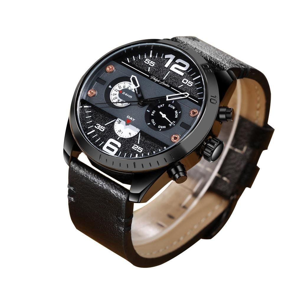 Relógio Masculino Philiph London PL800008512M Couro Preto