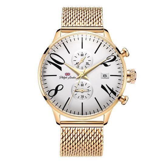 Relógio Masculino Philiph London PL80023645M Dourado