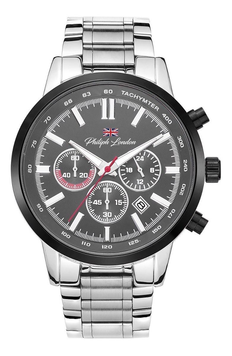 Relógio Masculino Philiph London PL80030633M Prata