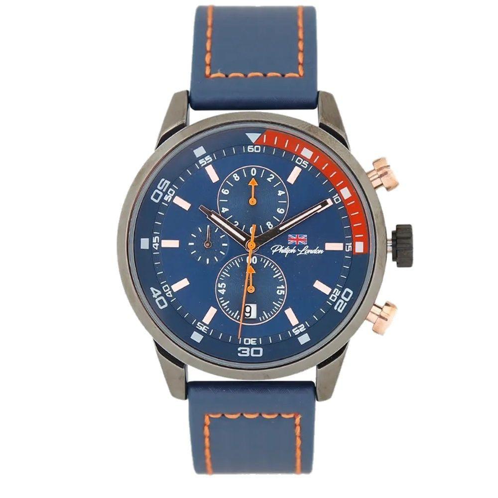 Relógio Masculino Philiph London PL8005612M Azul