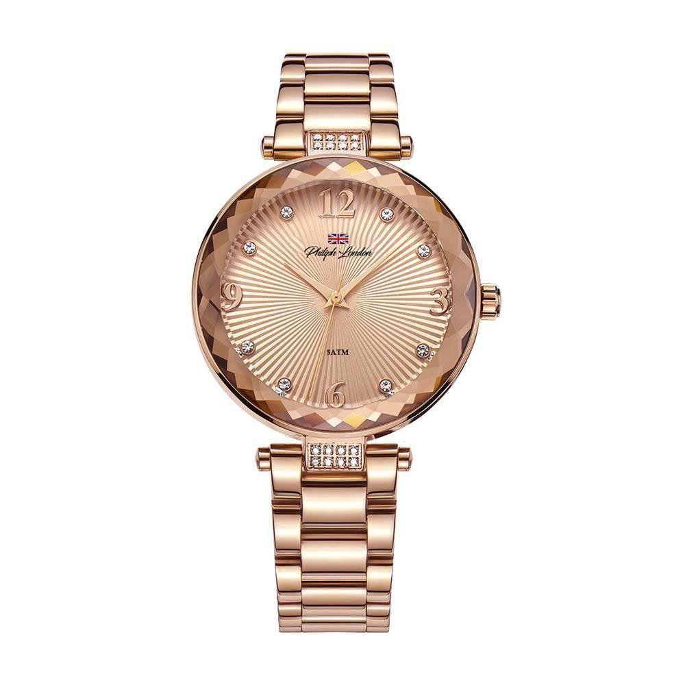 Relógio Philiph London Feminino Social Rosé