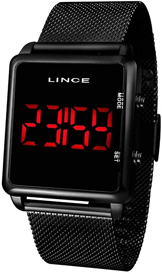 Relógio Unissex Digital Lince MDR4619L BXRX Preto