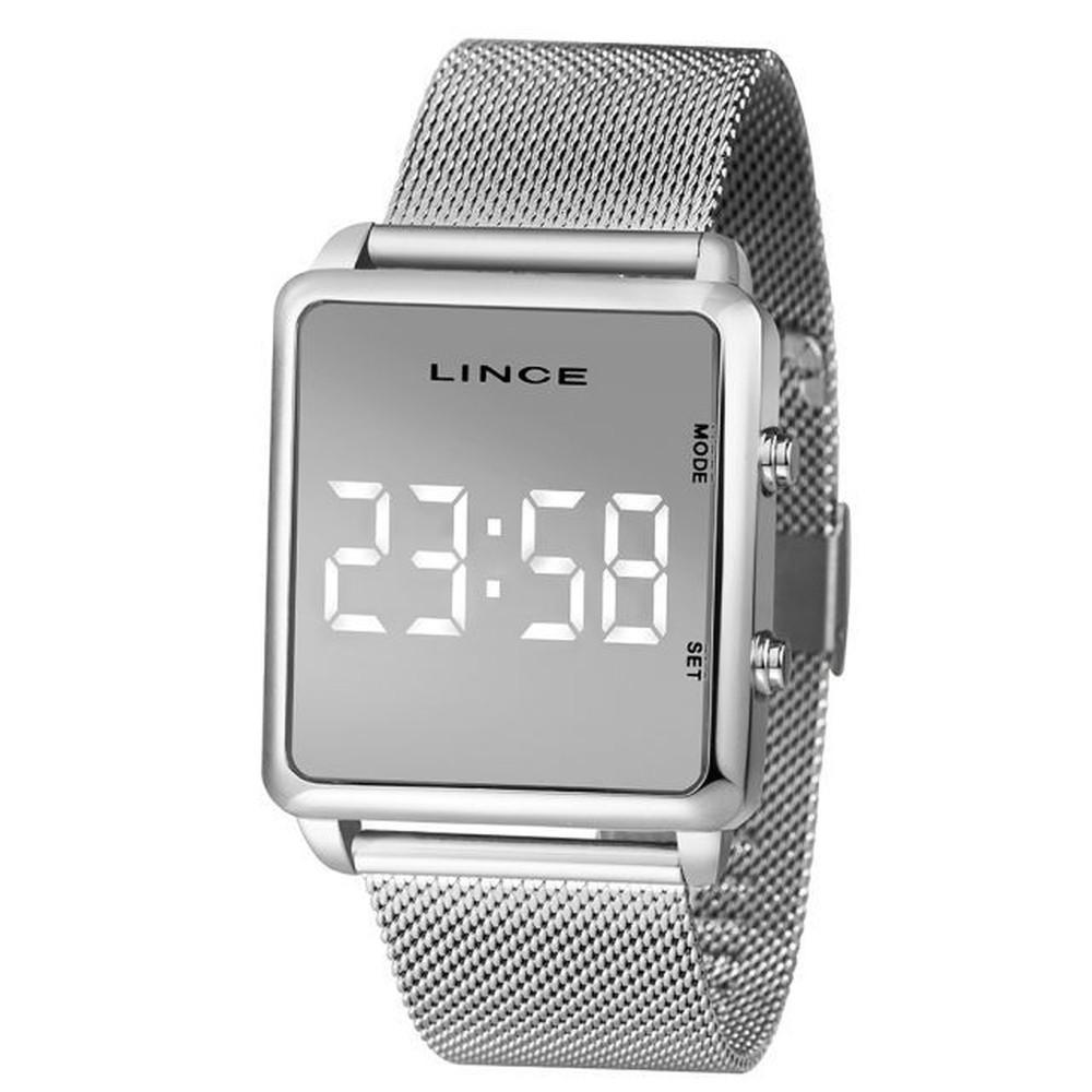 Relógio Unissex Digital Lince MDN4596L PXPX Prata