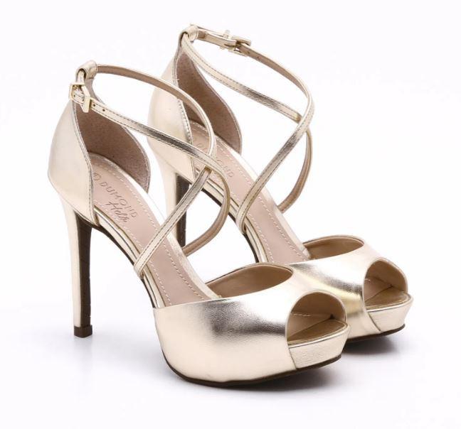Sandália Dumond Meia-Pata Metalizada Dourada