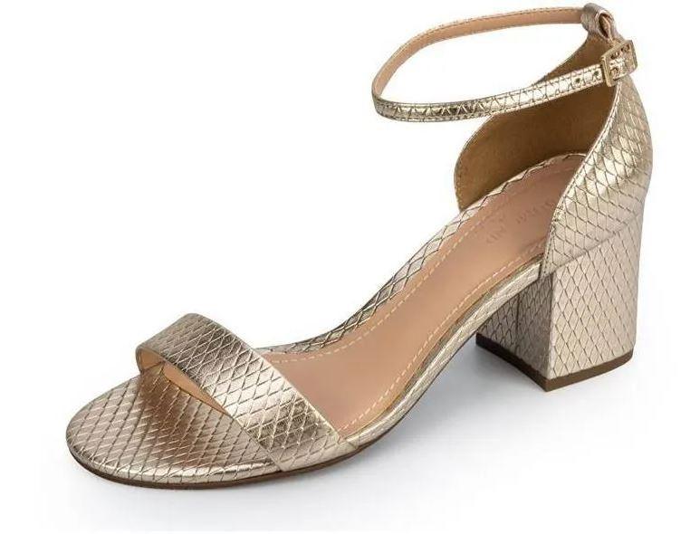 Sandália Dumond Metalizada Ouro