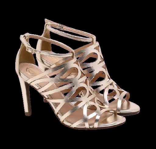 Sandália Dumond Tiras Metalizada Dourada