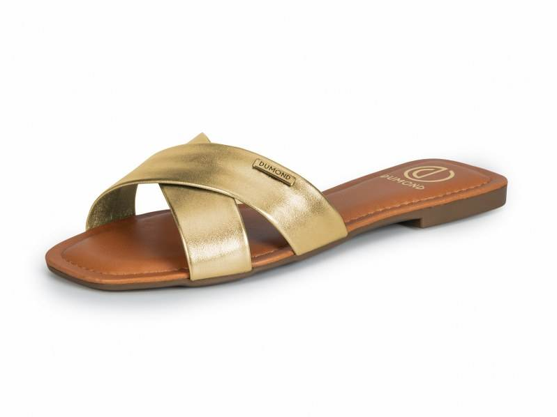 Sandália Sintético New Metalic Gold - Dumond