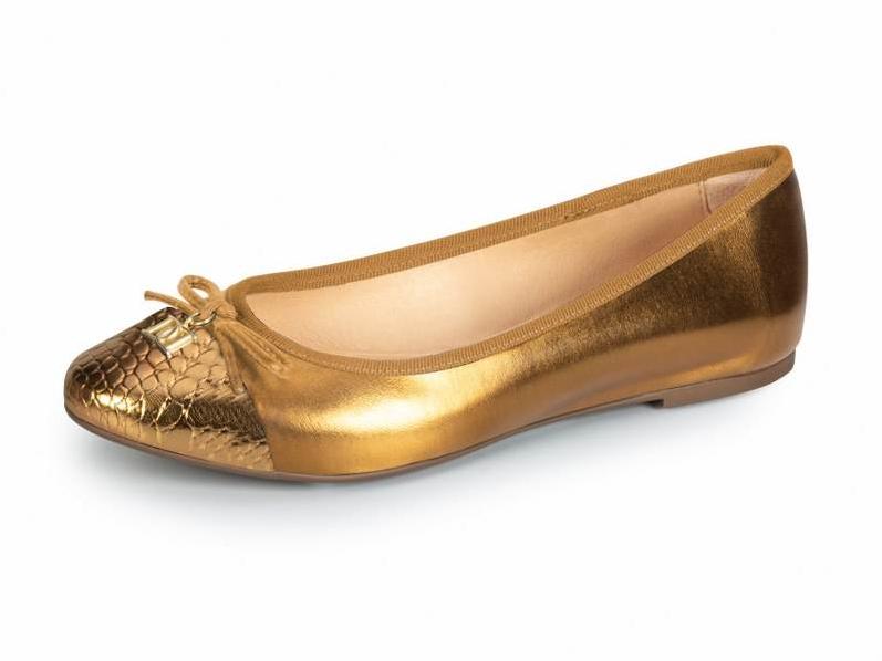 Sapato Sintético Bronze Dourado Dumond