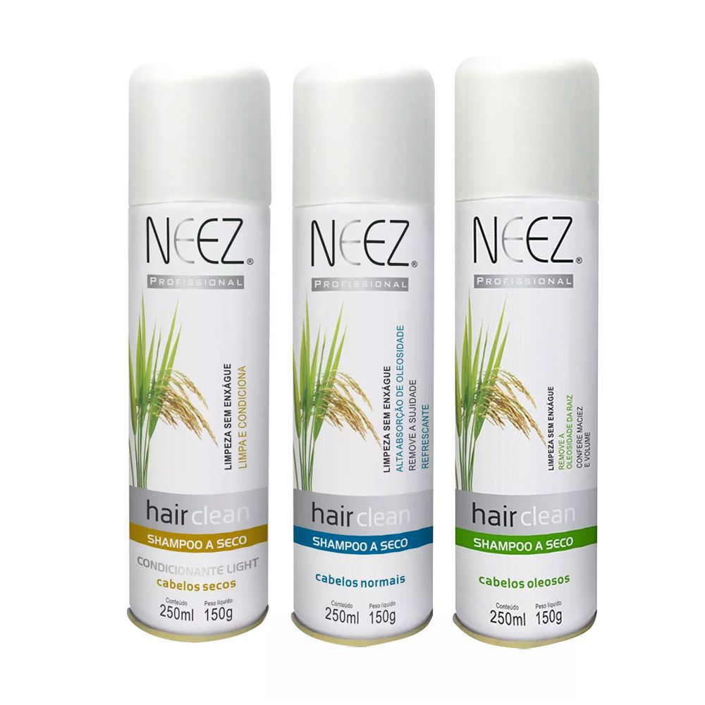 Shampoo A Seco Cabelos Oleosos 250ml Neez