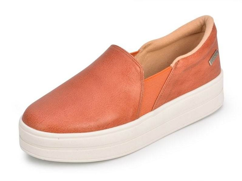 Slip On Dumond Couro Powder Rose