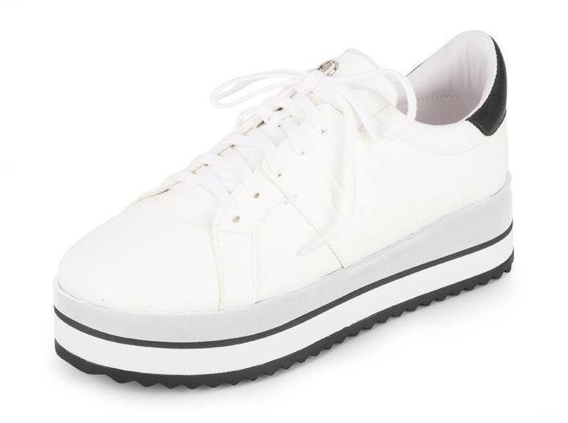 Tênis Dumond Plataforma Branco/Preto