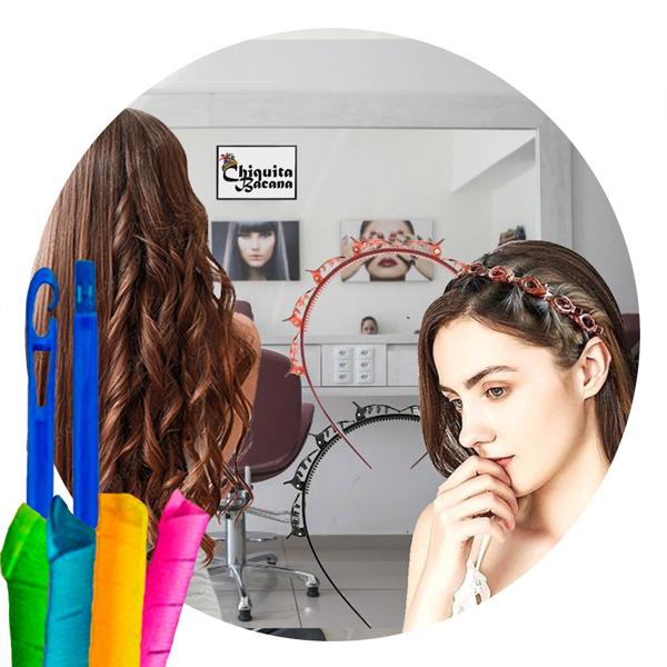 Tiara Com presilhas Hair Twister Arco Clip + Modelador de cachos