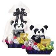 Bandeja Decorada Infantil de Chocolate com Panda de Pelúcia Borússia Chocolates