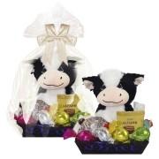 Bandeja Decorada Infantil de Chocolate com Vaquinha de Pelúcia Borússia Chocolates
