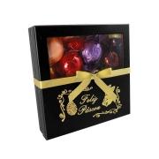 Caixa Elegante Feliz Páscoa Marrom com Chocolates Variados Borússia Chocolates