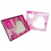 Caixa para Coração de Colher 500g Rosa Kaixote