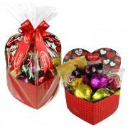 Caixa Presente Coração Pequena com Chocolates Variados Borússia Chocolates