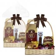 Cesta de Páscoa com Chocolate ao Leite Borússia Chocolates