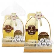 Cesta de Páscoa com Chocolate Branco Borússia Chocolates
