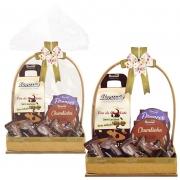 Cesta de Páscoa com Chocolate sem Açúcar / sem Lactose Borússia Chocolates