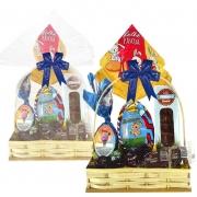 Cesta de Páscoa Infantil Azul Borússia Chocolates