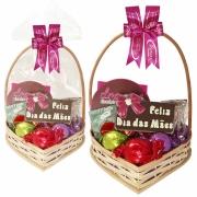 Cesta Feliz Dia das Mães com Chocolates Variados Borússia Chocolates