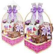 Cesta Feliz Dia das Mães com Chocolates Zero Açúcar e Zero Lactose Borússia Chocolates