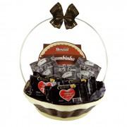 Cestinha de Chocolate Amargo Borússia Chocolates