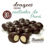 Confeito Castanha do Pará com Chocolate 80% Cacau Borússia Chocolates