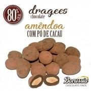 Confeito de Amêndoa Chocolate 70% com Pó de Cacau Borússia Chocolates