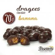 Confeito de Banana com Chocolate 70% Cacau Borússia Chocolates