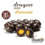 Confeito de Damasco com Chocolate 80% Cacau Borússia Chocolates