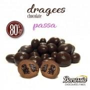 Confeito de Uva Passa com Chocolate 80% Cacau Borússia Chocolates