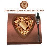 Coração de Colher com Chocolate Belga e Creme de Amendoim e Paçoca 180g Borússia Chocolates