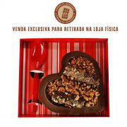 Coração de Colher com Chocolate Belga e Creme de Avelâ 520g Borússia Chocolates