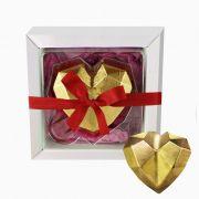 Coração de Diamante com Chocolate Belga e Creme de Avelâ 60g Borússia Chocolates