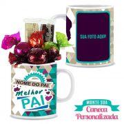 Kit Caneca Personalizada Dia dos Pais Modelo 3 Borússia Chocolates