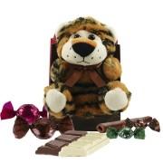 Kit Infantil de Chocolate com Tigrinho de Pelúcia Borússia Chocolates