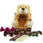 Kit Infantil de Chocolate com Ursinho de Pelúcia Borússia Chocolates