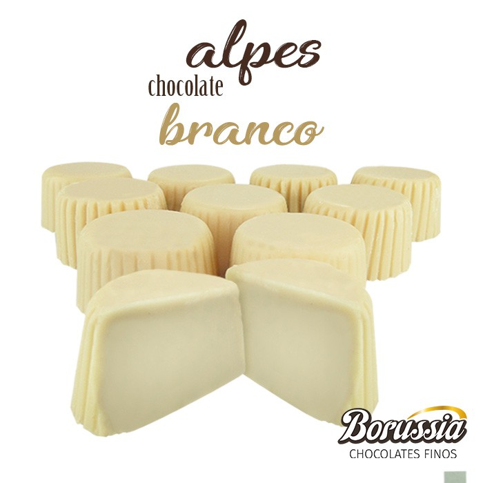 Alpes Chocolate Branco Borússia Chocolates