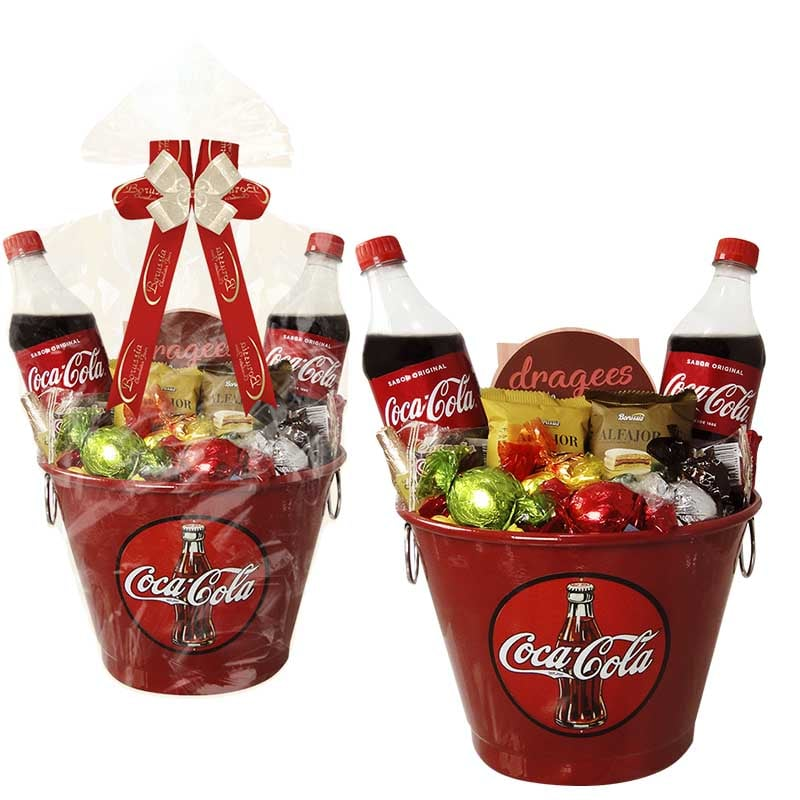 Balde da Coca Cola com Chocolates Borússia Chocolates