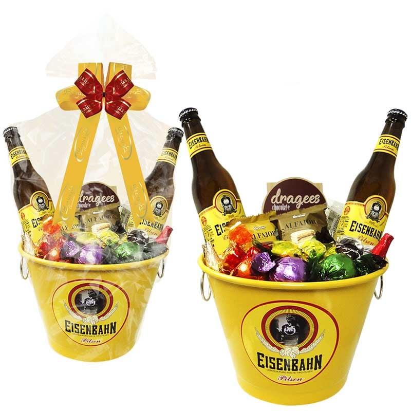 Balde de Cerveja Eisenbahn com Chocolates  Borússia Chocolates