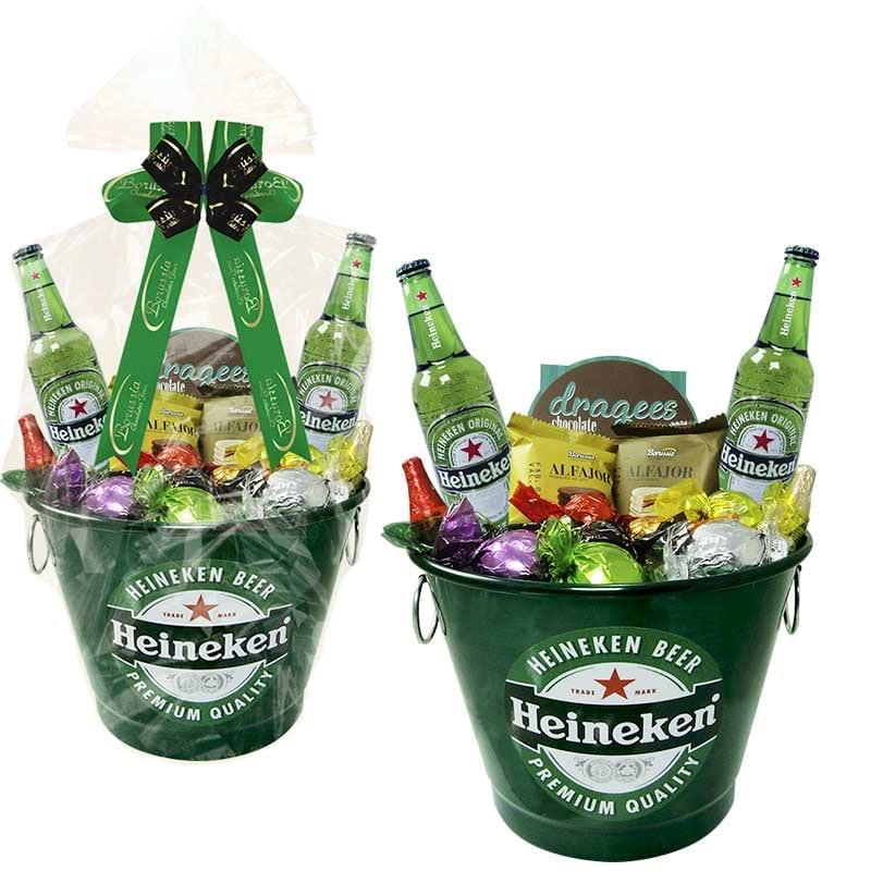 Balde de Cerveja Heineken com Chocolates Borússia Chocolates