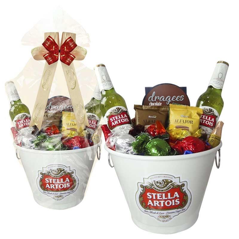 Balde de Cerveja Stella Artois com Chocolates Borússia Chocolates