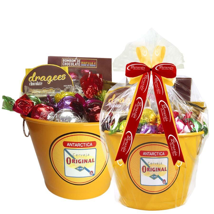 Balde de Cerveja com Chocolates Borússia Chocolates