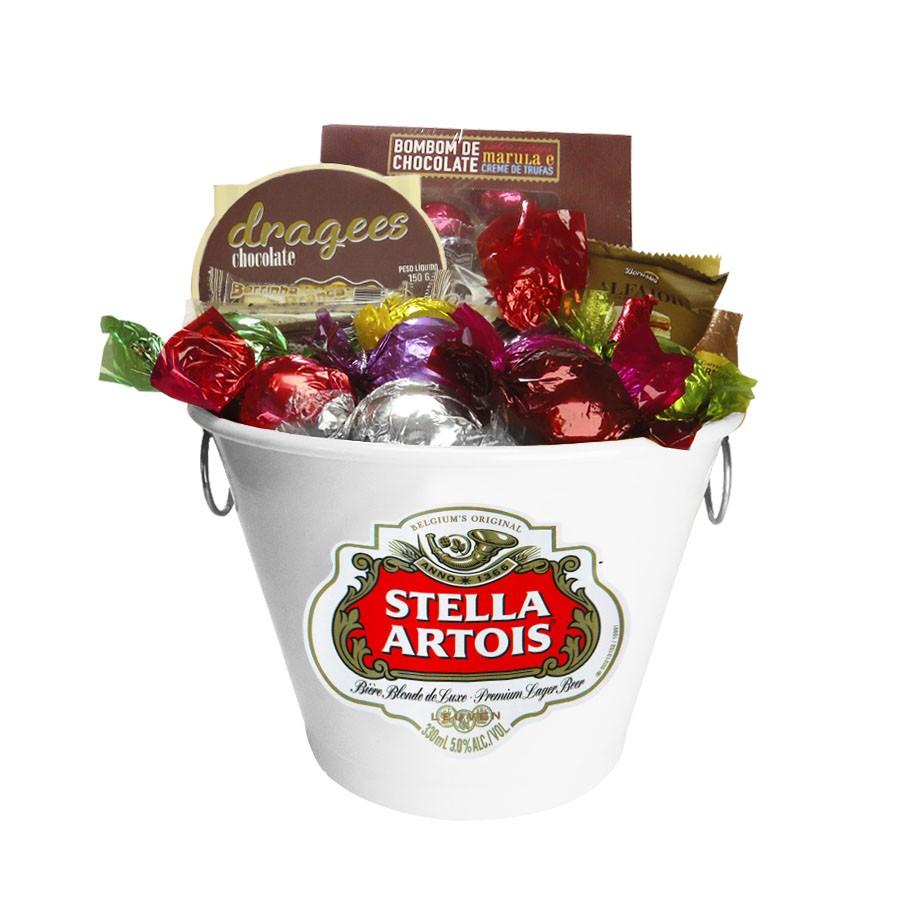 Balde de Gelo Stella Artois com Chocolates Borússia Chocolates