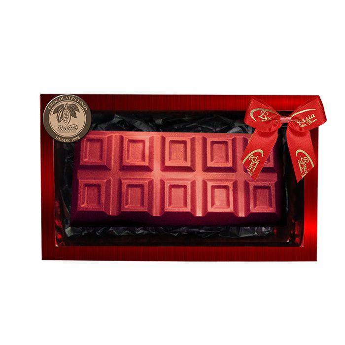 Barra de Chocolate Belga e Recheada com Brigadeiro e Cookies 300g Borússia Chocolates