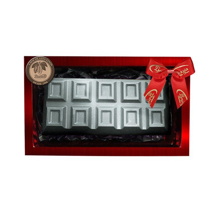 Barra de Chocolate Belga e Recheada com Marshmallow 200g Borússia Chocolates