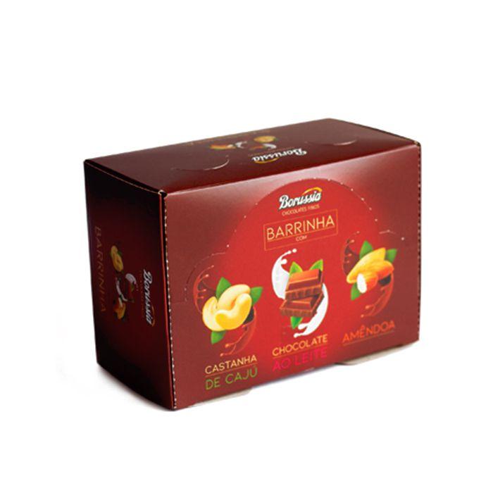 Barrinha sem Adição de Açúcar Sortida com 30 unidades Borússia Chocolates